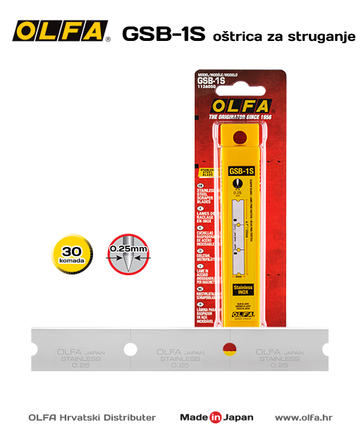 OLFA GSB-1S Oštrica za struganje